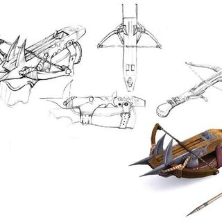 the Witcher (PC) crossbow concept arts
