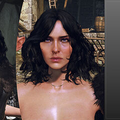 Work in progress model of Yennefer's face for TW3
