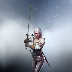 Render of Ciri in <i>The Witcher 3</i>