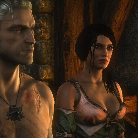 Geralt uwalnia baronową z więzienia