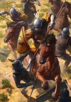 Gwent cardart unknown kaedweni heavy cavalry