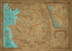 World map witcher wiki fandom powered by wikia world map in the witcher 2 gumiabroncs Choice Image