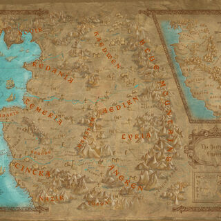 Early map for The Witcher 2
