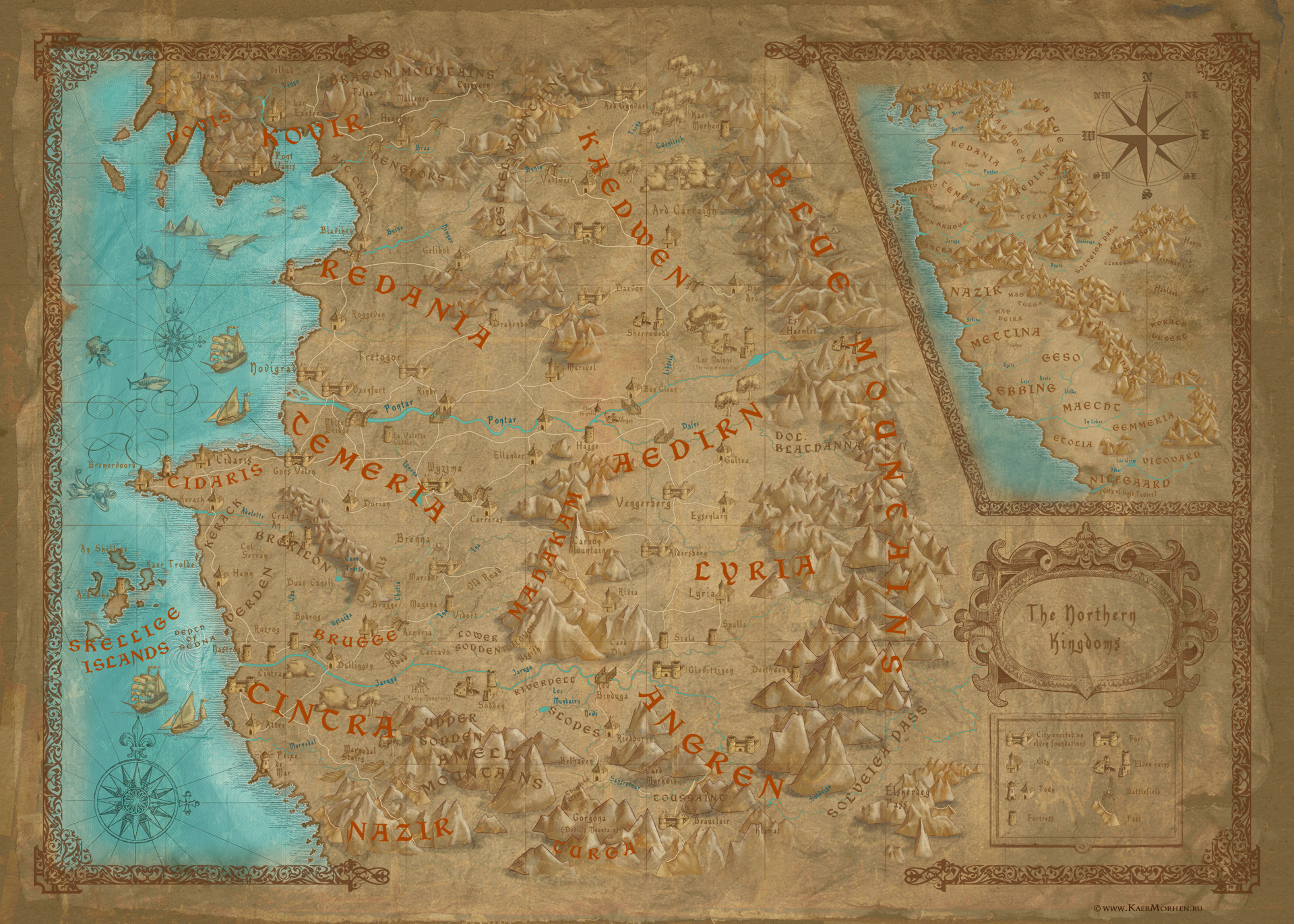 World map witcher wiki fandom powered by wikia world map in the witcher computer game tw2 map gumiabroncs