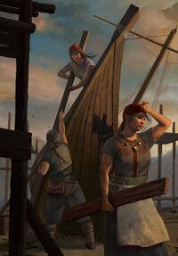 Gwent cardart skellige boatbuilders