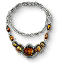 Tw3 silver amber necklace