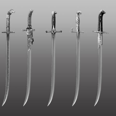 Sketches of the fabled blade owned by Olgierd.