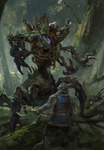 Gwent cardart scoiatael forest protector