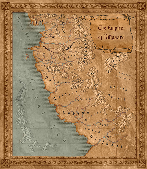 Map Nilfgaard