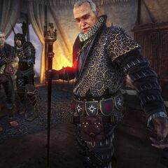 Shilard and Geralt on promotional screen from Enhanced Edition