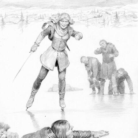 Ciri kills Rience on Tarn Mira