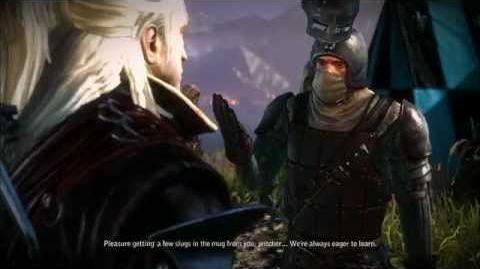 Geralt vs the Temerian Blue Stripes - Fistfighting (The Witcher 2 cutscenes) HD