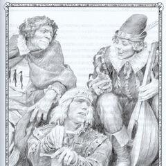 Borch, Geralt and Jaskier