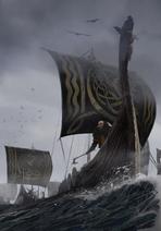 Gwent cardart skellige raiding fleet