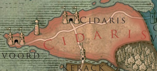 Cidaris Colored Map