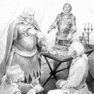 Vissegerd, Dandelion, Geralt and Daniel Etcheverry