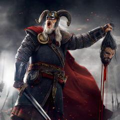 Гаральд ан Крайт з головою ворога