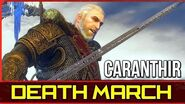 Witcher 3 Caranthir Boss Fight - Death March (Hardest) Difficulty