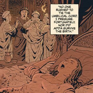 Смерть Адди під час пологів, <i>Прокляття Ворон</i>