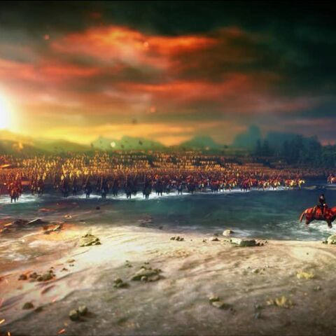 Нільфгардське військо переправляється через Яругу, початок Третьої північної війни