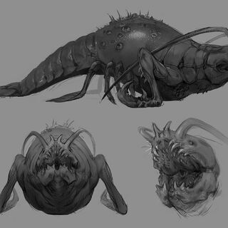 Glustyworp concept art