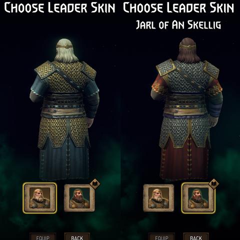 Leader skin back