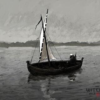 Concept art of boat by Jan Marek