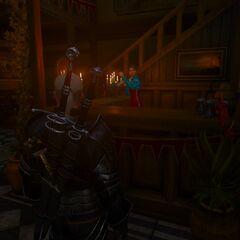 inside the tavern.