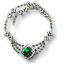 Tw3 silver emerald necklace