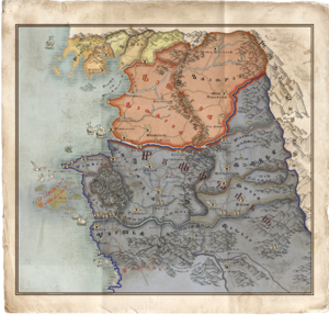World map witcher wiki fandom powered by wikia the witcher 3 map of north gumiabroncs Choice Image