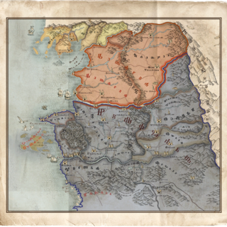 World map in The Witcher 3