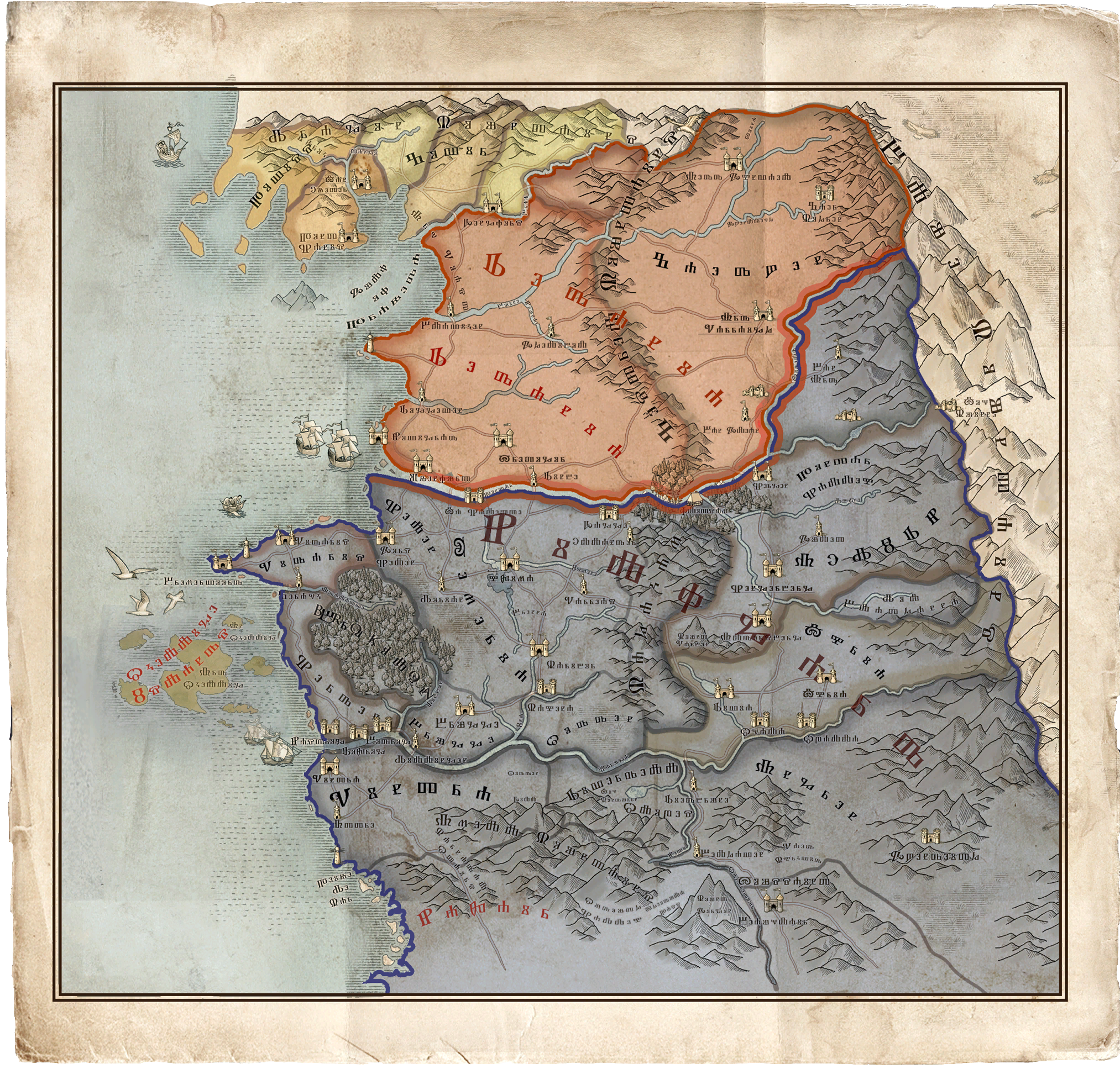 World Map Witcher Wiki Fandom