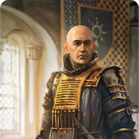 Image from his Gwent card in <i>The Witcher 3</i>