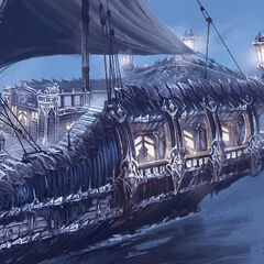 Second concept of quarterdeck (by Maciej Wojtala)