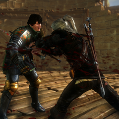 Geralt kills Aryan