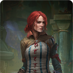 Triss' Gwent card art