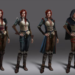 Concept art of Triss for <i>The Witcher 3</i>