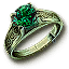 Tw3 ring green gold emerald