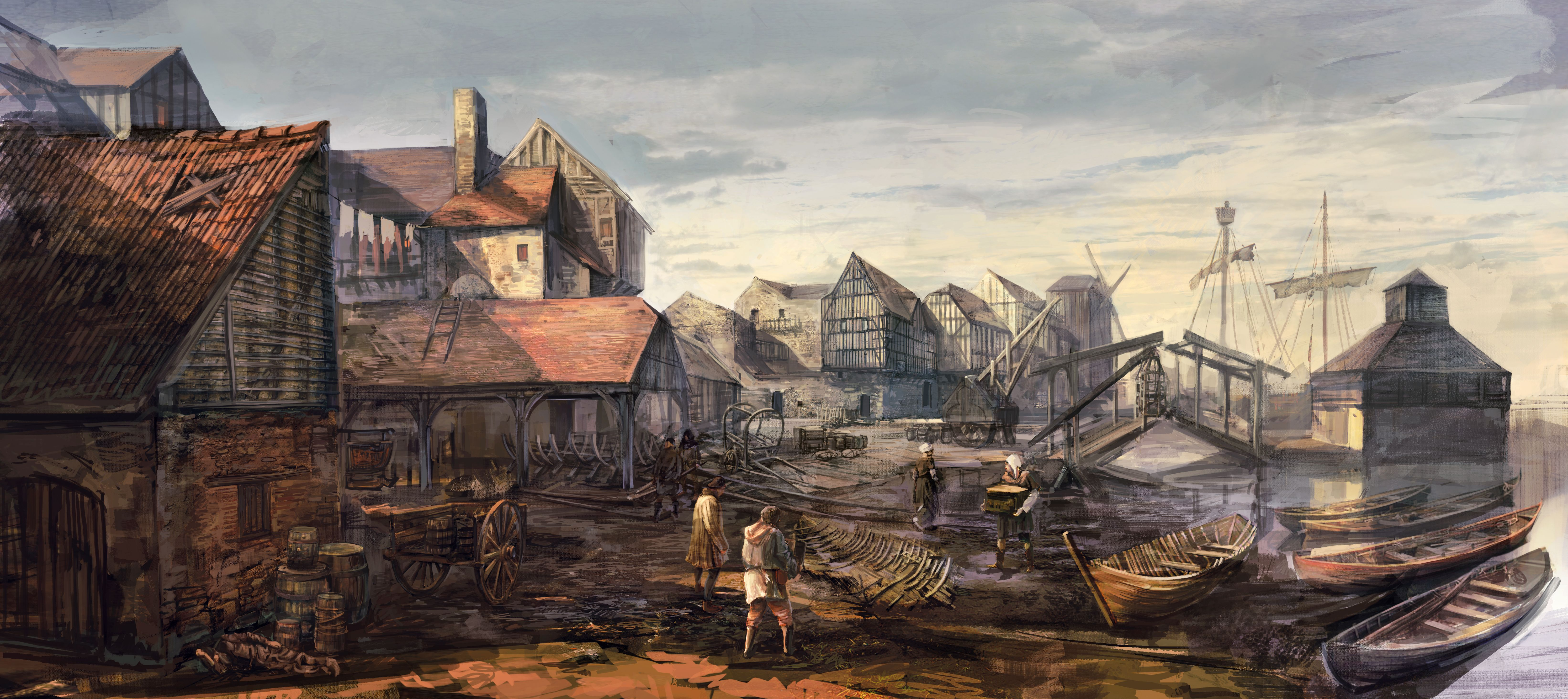 Tw3 concept art Novigrad Seaport2