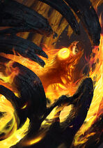 Gwent cardart neutral phoenix hatchling