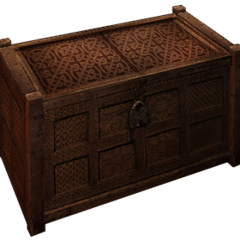 a decorative crate