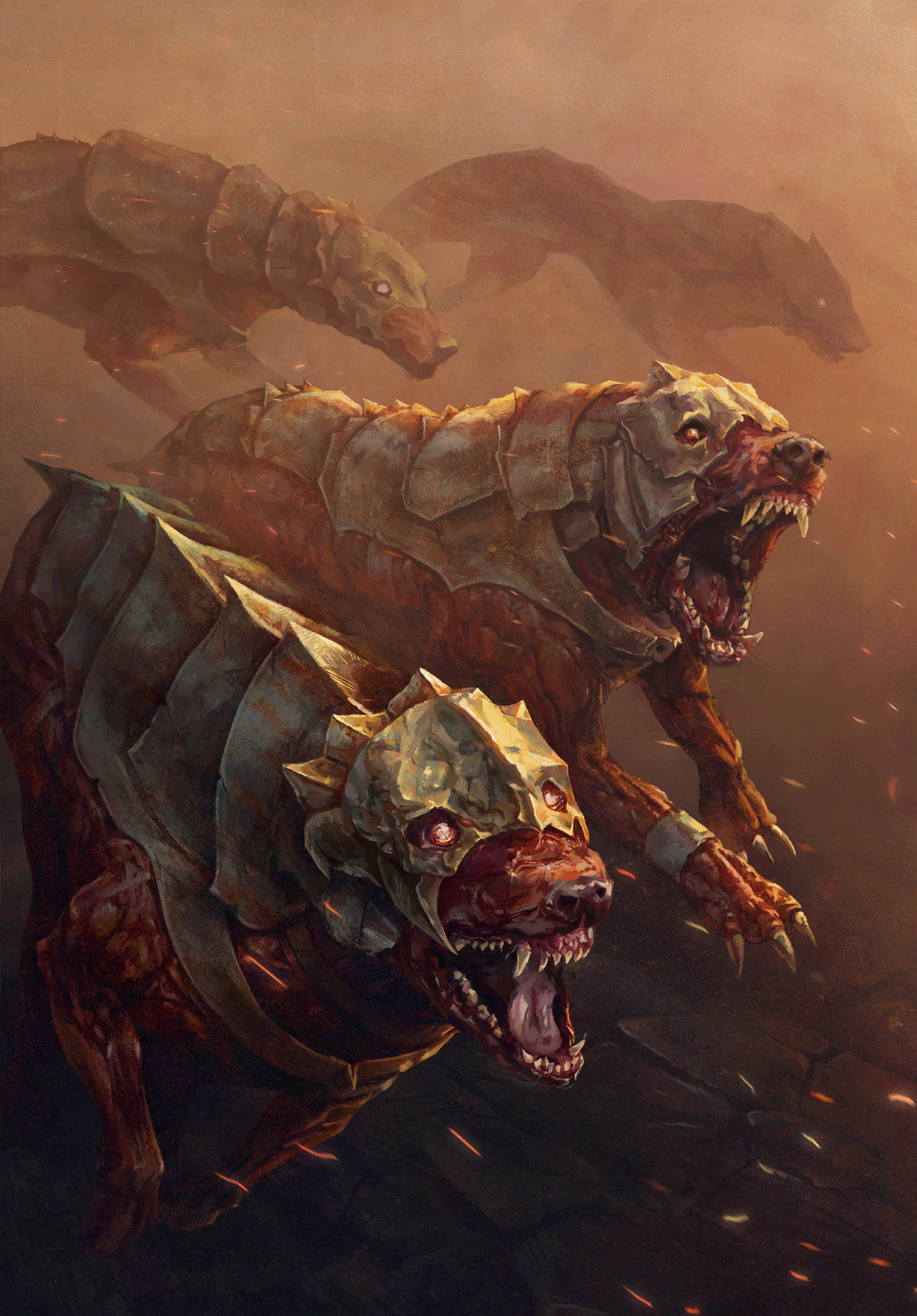 Gwent cardart syndicate mutated hounds