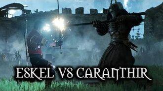The Witcher 3 Wild Hunt - Eskel vs Caranthir