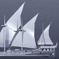 Render of ship (by Maciej Wojtala)