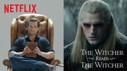 Henry Cavill Reads The Witcher Netflix