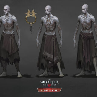 Concept arts, middle one is the final version