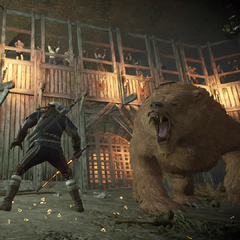 Witcher and Boris fighting.