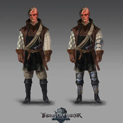 Concept art for <i>Thronebreaker: The Witcher Tales</i>