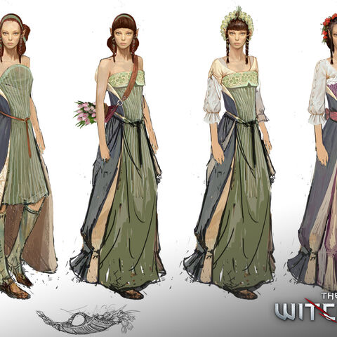 Concept art of Dol Blathanna elves for <i>The Witcher 2</i>