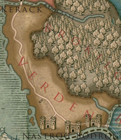 Verden Colored Map